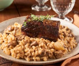 Barley Risotto with Beef Short Ribs