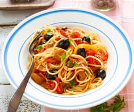 Spaghettini mit Paprika