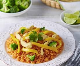 Cocina en niveles: arroz, pollo y brócoli - Demo - presentadores