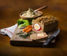 Meatloaf with onion gravy