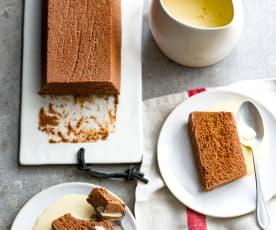 Marquise au chocolat, crème anglaise