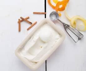 Gelado de leite merengado