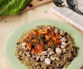 Quinoa con acelgas y pollo