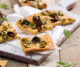 Farinata - włoski placek z ciecierzycy