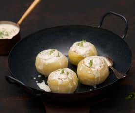 Kalarepy faszerowane mięsem z indyka