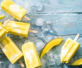 Polos de mascarpone y mango