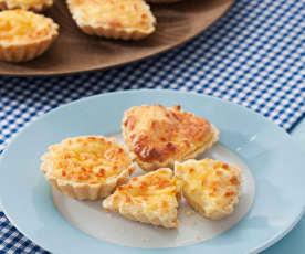 Tartaletas de queso soufflé