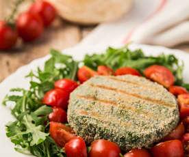 Burger di salmone e spinaci