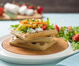 Gofres de sarraceno con verduras (sin gluten)