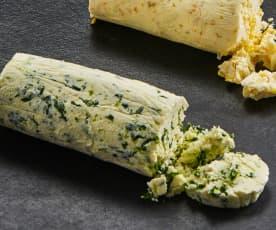 Mantequilla de ajo y perejil