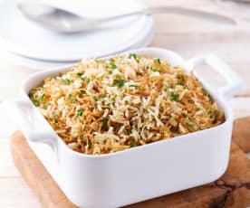 Fideo seco con arroz