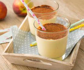 Smoothie de melocotón, nueces y aceite de coco (sin azúcar)