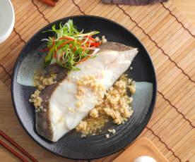 酒釀蒸鱈魚