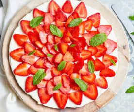 Tarte aux fraises et crème au citron