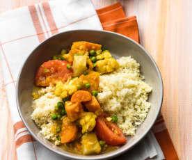 Gemüse-Curry mit Couscous