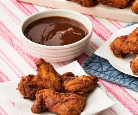 Hot crunchy wings (Alitas de pollo picantes crujientes)