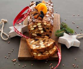 Pain aux fruits secs et épices de Noël