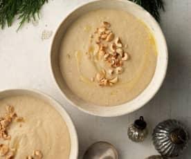 Celeriac, Roasted Hazelnut and Truffle Soup