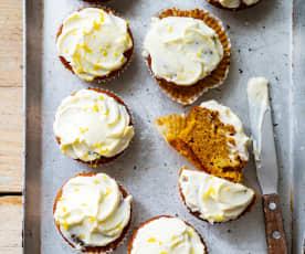 Petits muffins à la carotte, glaçage au citron