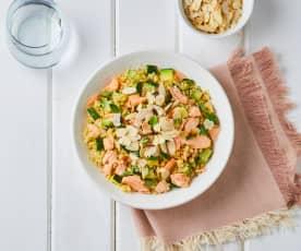 Insalata di bulgur, salmone e zucchine (Modalità Cuoci riso)