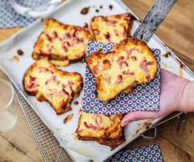 Tartines 'croque-monsieur'