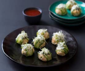 Thai chicken balls with sweet chilli dipping sauce