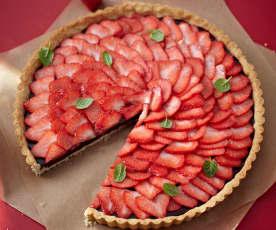 Nougat-Erdbeer-Tarte