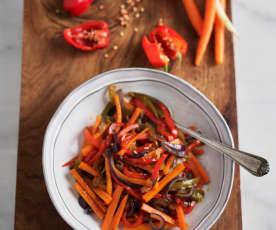 Salteado de verduras mixtas