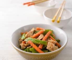 沙茶青椒炒豆皮