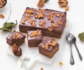 Gâteau noix-chocolat