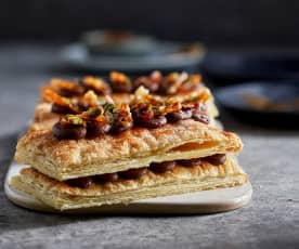 Chocolate and Caramel Millefeuille
