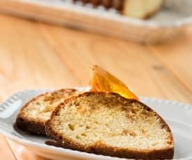 Cake de naranja confitada y almendra