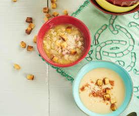 Sopa de feijão-branco