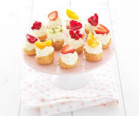 Mini Choux with Strawberries