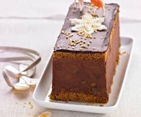 Bûche chocolat, orange et gingembre