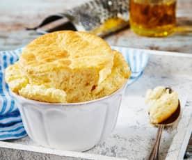 Souffle de queso gruyere