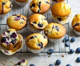 Muffins gourmands aux myrtilles