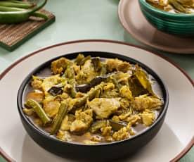 Curry verde tailandés de pollo (Kaeng khiao waan) - Tailandia
