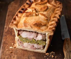 Chicken, Ham and Asparagus Pie
