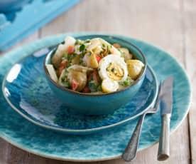 Salada russa de bacalhau