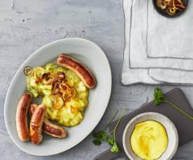 Kartoffel-Apfel-Ragout mit Bratwürstchen