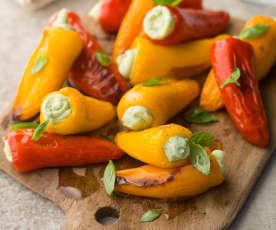 Mini Peppers Stuffed with Homemade Ricotta - Piccoli peperoni ripieni di ricotta