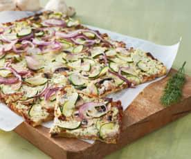 Kartoffel-Flammkuchen (pizza alsaciana de patata)