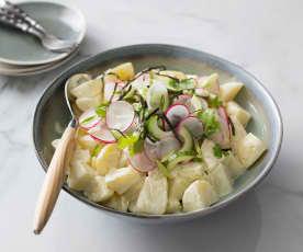 Warm wasabi potato salad