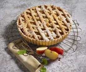 Apfelkuchen mit Weinteig