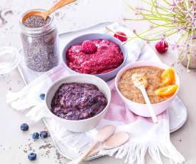 Gelées aux fruits et graines de chia