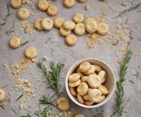 Areias de queijo e alecrim