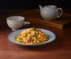 "Yang zhou chao fan (Chinese ""fried"" rice)"