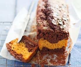 Cake marbré chocolat et courge