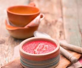 Zupa krem z pieczonych buraków z koprem włoskim i jabłkiem